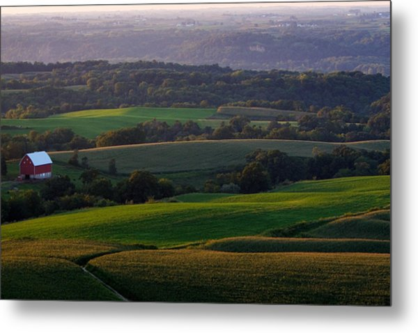 Upper Mississippi River Valley Hills Metal Print