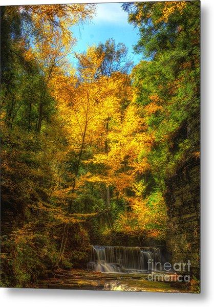 Upper Pinnacle Falls Metal Print