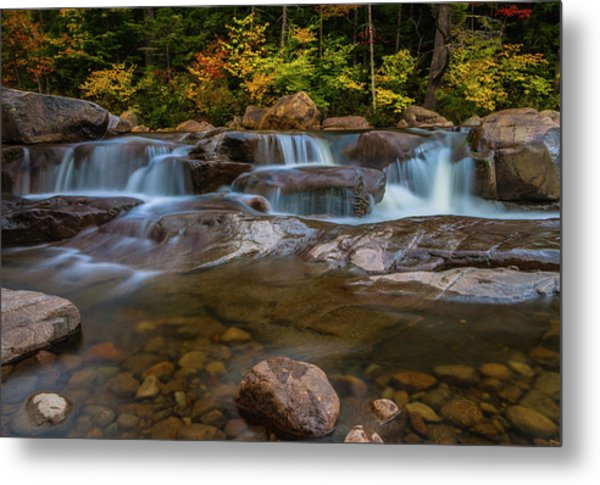 Upper Swift River Falls In White Mountains New Hampshire Metal Print