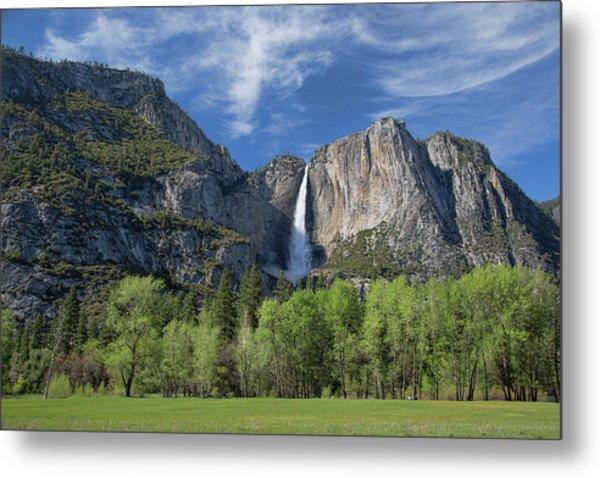 Upper Yosemite Falls In Spring Metal Print