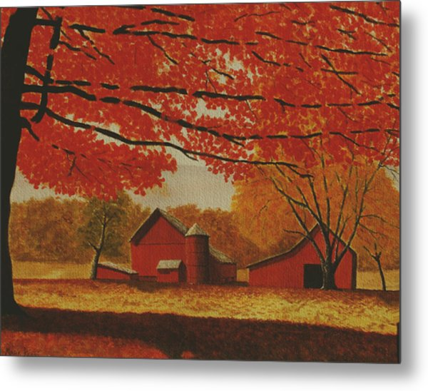Upstate Autumn Metal Print by Mark Regni