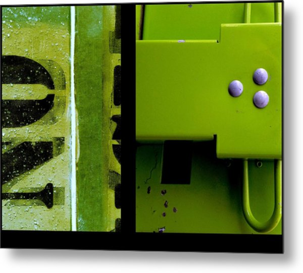 Urban Abstracts Seeing Double 40 Metal Print