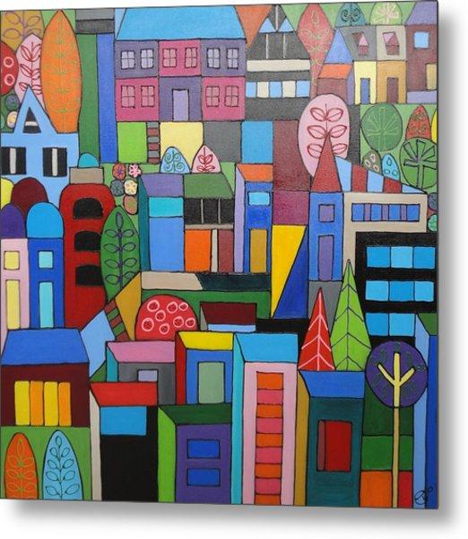 Urban Cityscape 1 Metal Print