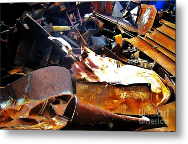 Urban Deconstruction Metal Print by Reb Frost
