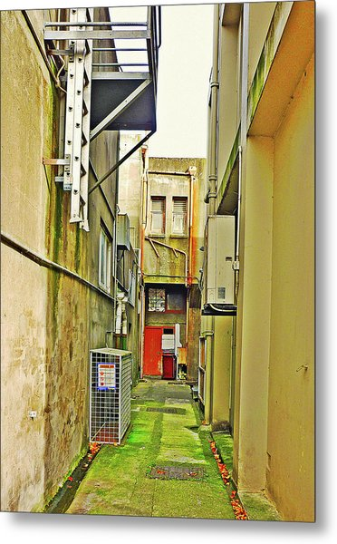 Urban Landscape-blind Alley Metal Print by Kenneth William Caleno