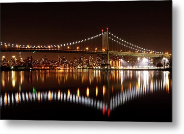 Triboro Bridge Brilliance Metal Print