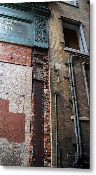 Urban Reconstruction Metal Print by Denise McKay