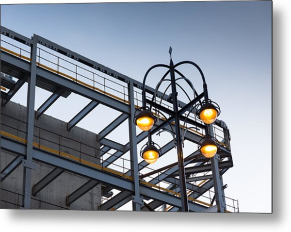 Metal Print featuring the photograph Urban Structures by Paul Indigo