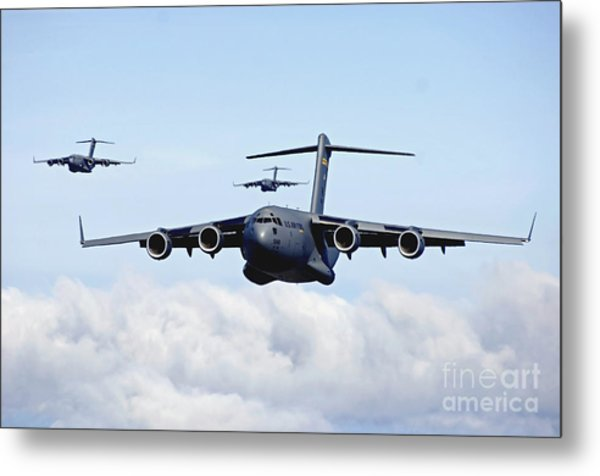 U.s. Air Force C-17 Globemasters Metal Print