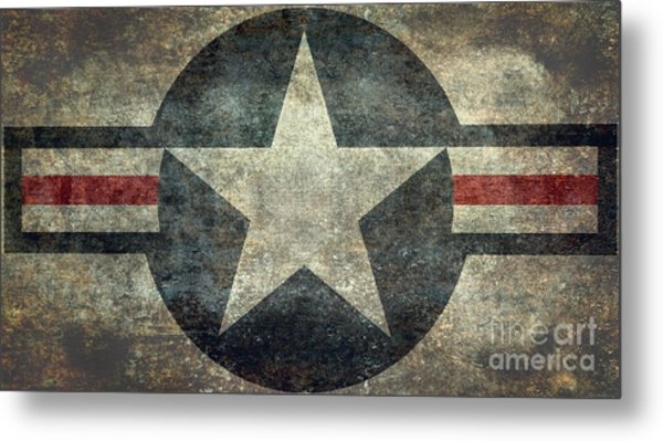 Us Air Force Roundel With Star Metal Print