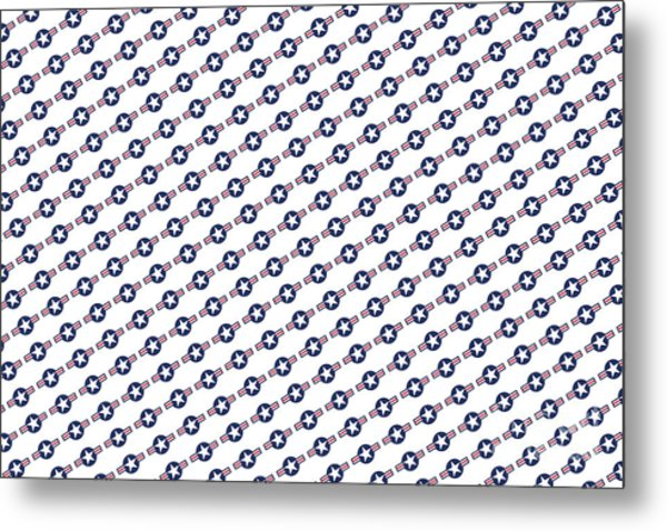 Us Airforce Style Insignia Pattern Diag Version Metal Print