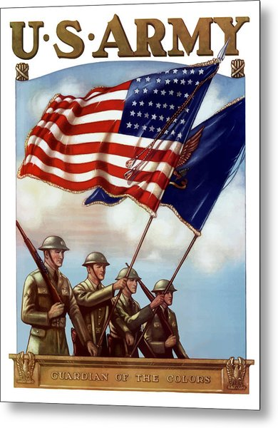 Us Army -- Guardian Of The Colors Metal Print