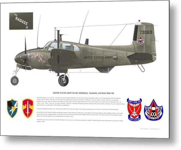 U.s. Army Ru-8d 138th Metal Print