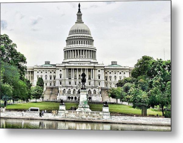 U.s. Capitol Building Metal Print