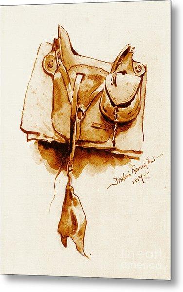 Us Cavalry Saddle 1869 Metal Print