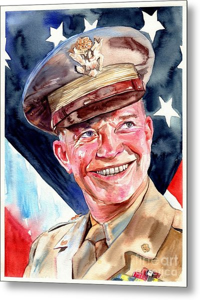 Us General Dwight D. Eisenhower Metal Print