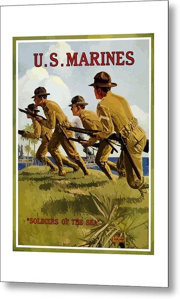 Us Marines - Soldiers Of The Sea Metal Print