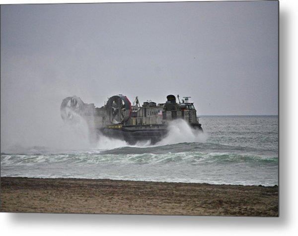 Us Navy Hovercraft Metal Print