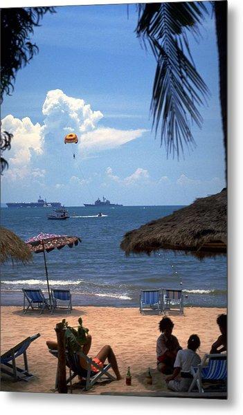 Us Navy Off Pattaya Metal Print
