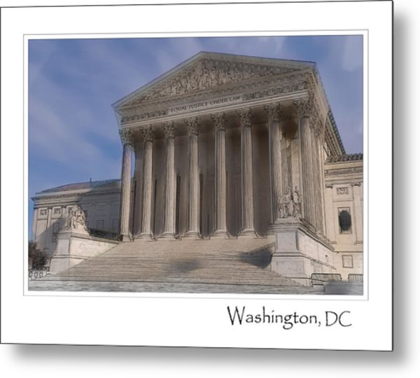 Us Supreme Court Building In Washington Dc Metal Print