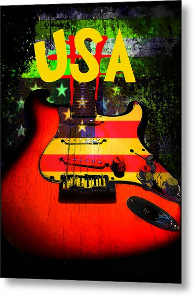 Metal Print featuring the photograph Usa Guitar Music by Guitar Wacky