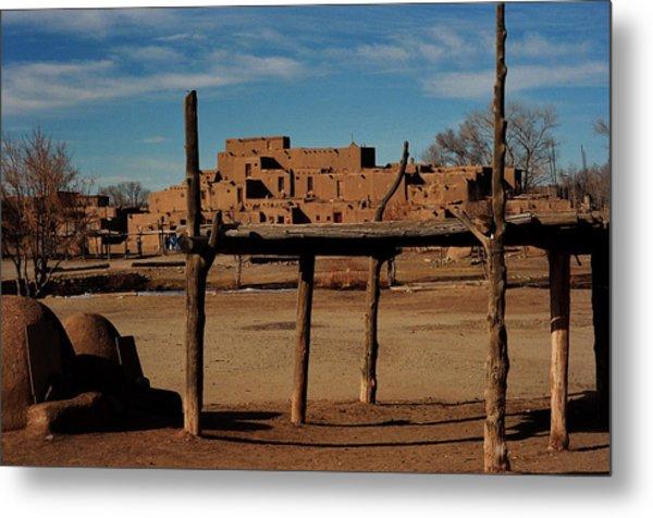 Usa - Taos Pueblo New Mexico Metal Print by Jacqueline M Lewis
