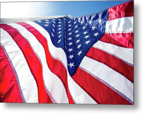 Usa,american Flag,rhe Symbolic Of Liberty,freedom,patriotic,hono Metal Print