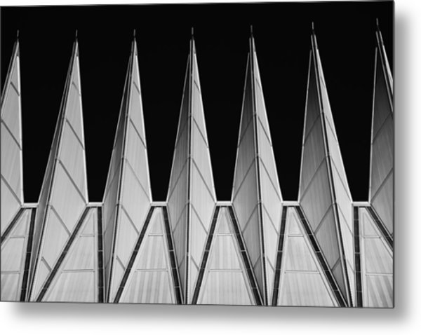 Metal Print featuring the photograph U. S. A. F. Academy Cadet Chapel Detail by Rand