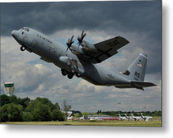 Usaf Lockheed-martin C-130j-30 Hercules  Metal Print