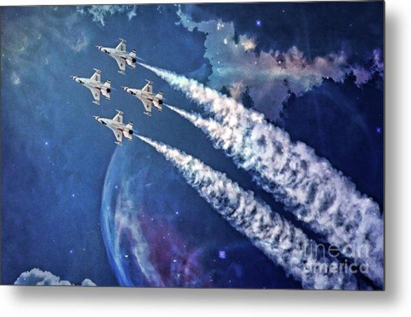 Usaf Thunderbirds Diamond Formation Metal Print