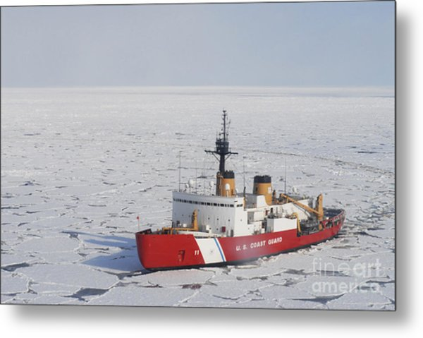 Uscgc Polar Sea Conducts A Research Metal Print