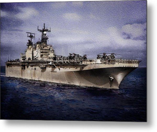 Uss Iwo Jima Lph2 Metal Print