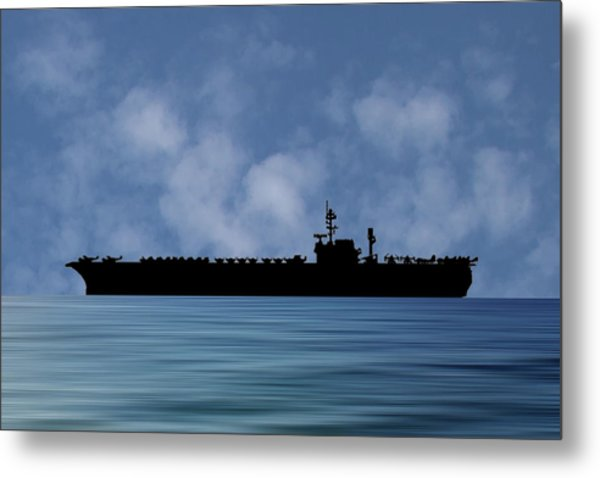 Uss Kitty Hawk 1955 V1 Metal Print