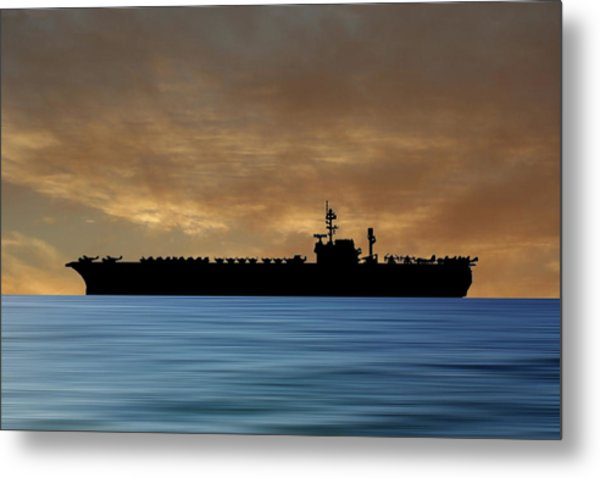 Uss Kitty Hawk 1955 V2 Metal Print
