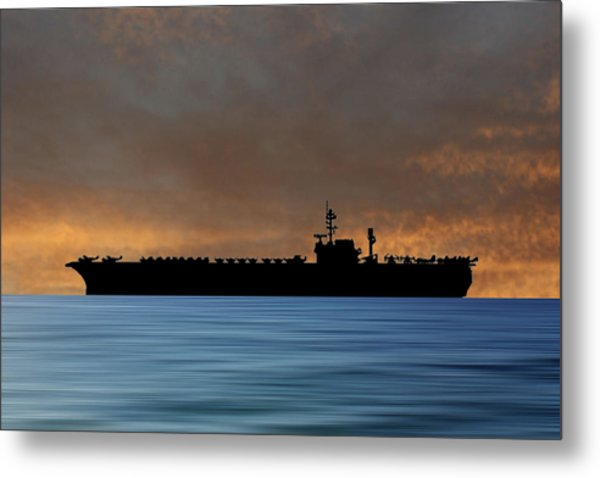 Uss Kitty Hawk 1955 V3 Metal Print