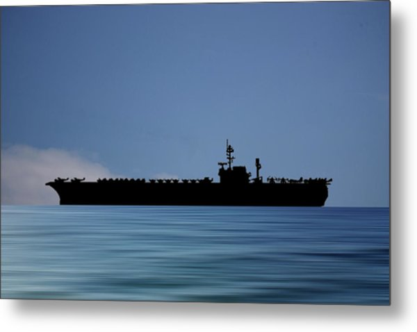 Uss Kitty Hawk 1955 V4 Metal Print