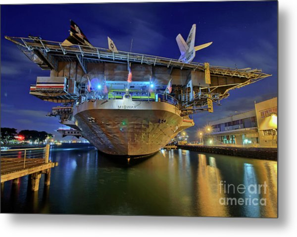 Metal Print featuring the photograph Uss Midway Aircraft Carrier  by Sam Antonio Photography