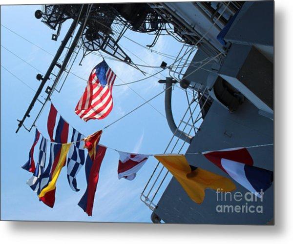 Uss Midway Flag Metal Print