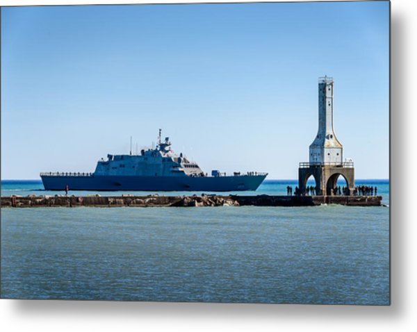 Uss Milwaukee Metal Print