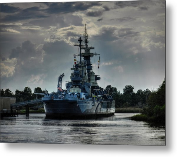 U.s.s. North Carolina 001 Metal Print