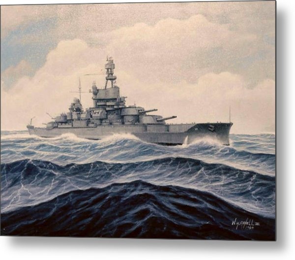 Uss Pensylvania Metal Print by William H RaVell III