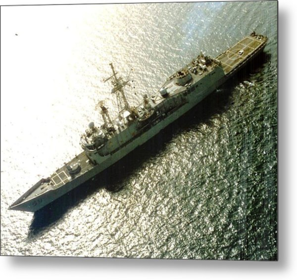 Uss Samuel B Roberts At Sea Metal Print