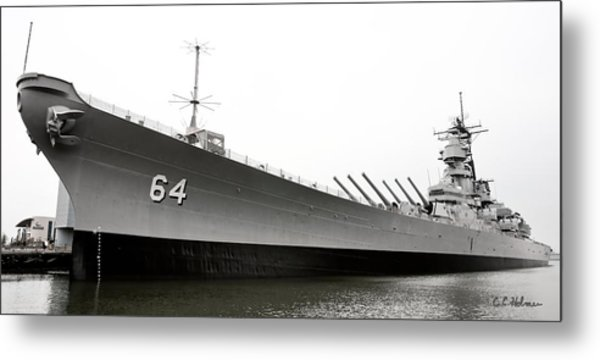 Uss Wisconsin - Port-side Metal Print