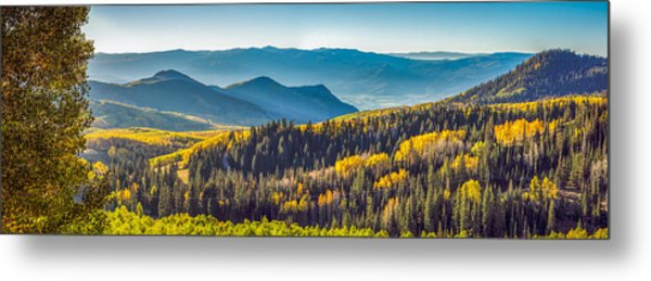 Utah Autumn Panorama Metal Print