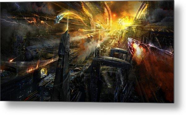 Utherworlds Battlestar Metal Print by Philip Straub