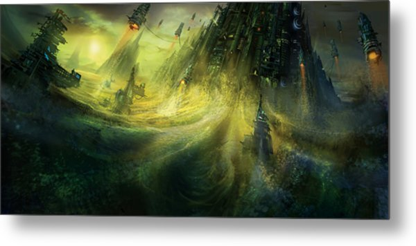 Utherworlds Monolith Metal Print by Philip Straub