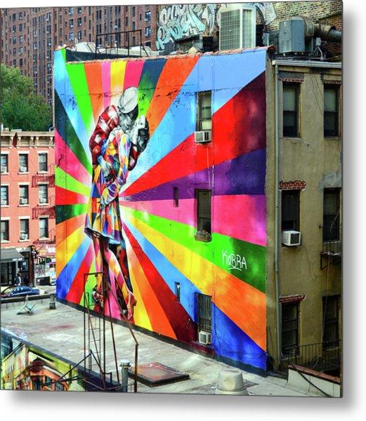 V - J Day Mural By Eduardo Kobra # 2 Metal Print