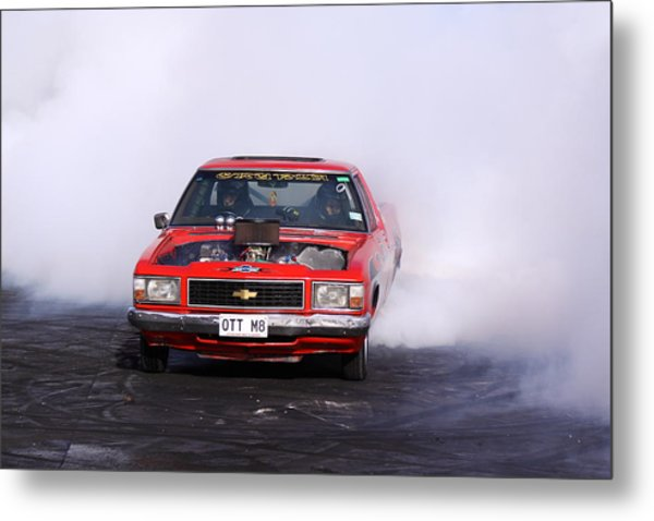 V8 Ute Doing A Burnout Metal Print by Stephen Athea