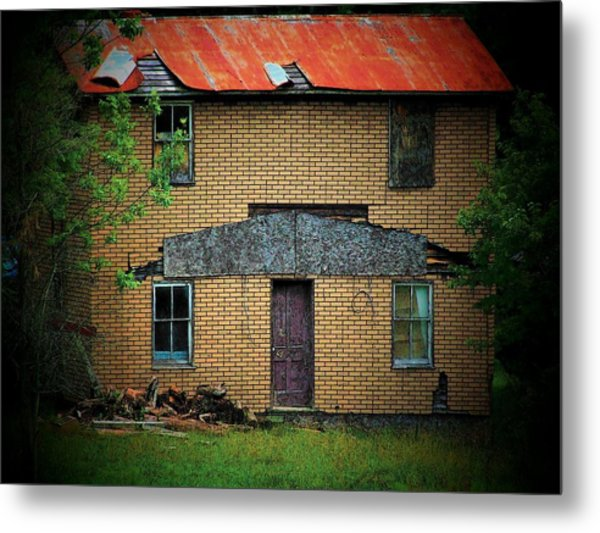 Vacant House Metal Print by Michael L Kimble