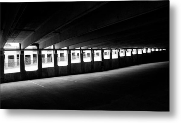 Vacant Parking Garage Metal Print by Ahmed Hashim